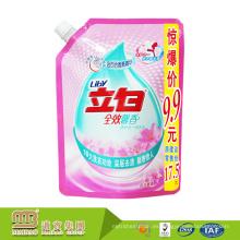 One-Stop Solution Package Custom Printing Self Standing detergente Liquid Soap canal de bolsas para el lavado