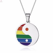 Artículos religiosos en línea hermosos Colgantes del orgullo gay del acero inoxidable