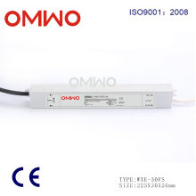 Fuente de alimentación impermeable 24V 30W LED al aire libre Driver