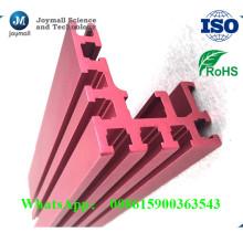 Profil en aluminium anodisé adapté aux besoins du client d'extrusion