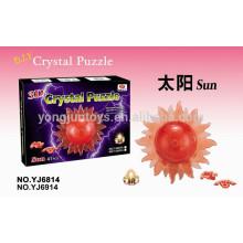 El sol caliente 41PCS del rompecabezas del cristal 3D de la venta con la luz