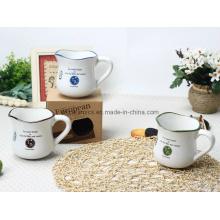 Taza de leche de cerámica