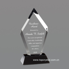 Nice crystal award with black base