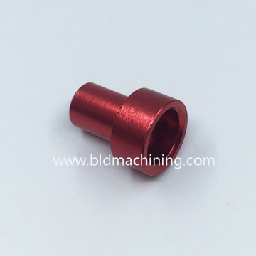Precision Turned Red Anodized Aluminium Cykeldelar