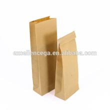 Bolsa de papel de kraft de escudete lateral clásico