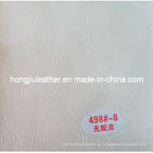 Mobiliário amassado branco usado couro de óleo de cera