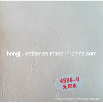 White Crumpled Furniture Used Waxy Oil Leather