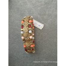 Bracelet élastique de perles de rétro Multi couleur