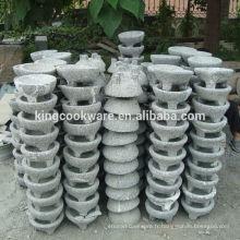 herbes naturelles épices outils granit molcajete 3 mortier et pilon pour le broyage