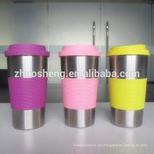 mejor venta personalizado diario necesita taza de acero inoxidable con cerámica