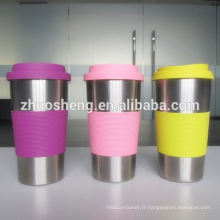 meilleure vente personnalisée par jour besoin tasse en acier inoxydable avec céramique