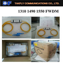 FTTH Good Quality 1310/1490/1550nm Wdm Fiber Optic Fwdm
