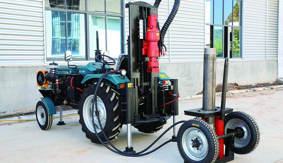200s 200m portable tractor type water well drilling rig 1