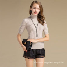 Manual Wool Sweater Knitting Machine Manufacturers Women Turtleneck Fleece Sweater