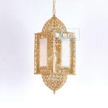 Lanternes marocaines en gros de luxe d'or, éclairage marocain LT055