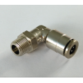 Air-Fluid Nickel Plated Brass P.T.C Swivel Elbow Fitting