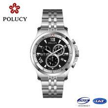 2016 cronógrafo reloj fabricante de acero occidental relojes
