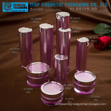 Wholesale good quality beautiful double layers crystal clear high-end acrylic plastic cosmetic packaging