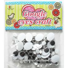 Семена куклу гугли глаза для игрушек пластиковые
