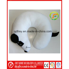 Plush White Dog Toy Neck Cushion Pillow