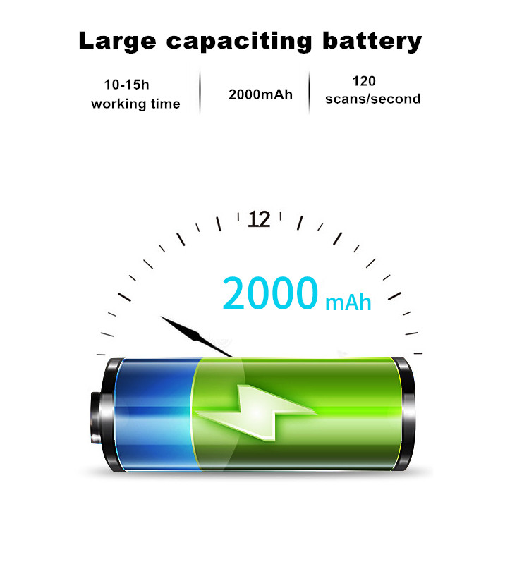 Large capacity battery scanner