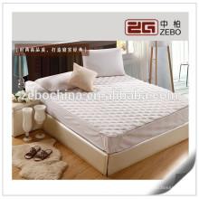 100% poliéster barato lavable acolchado colchón protector