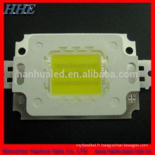 Meilleur produit! Puce blanche de la puissance élevée 50W Epistar / bridgelux 120-130lm / w place blanche