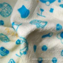 Tissu super doux imprimé sur les deux côtés
