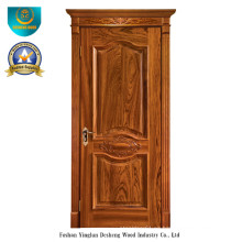 Puerta de madera sólida estilo europeo con talla (ds-049)