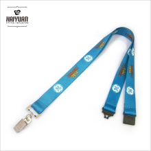Heat Transfer Lanyard with Bulldog Clip