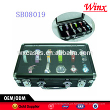 Venda quente!!! Caixa de relógio de luxo 12, caixa de relógio de alumínio para homens com uma clara mostrar top