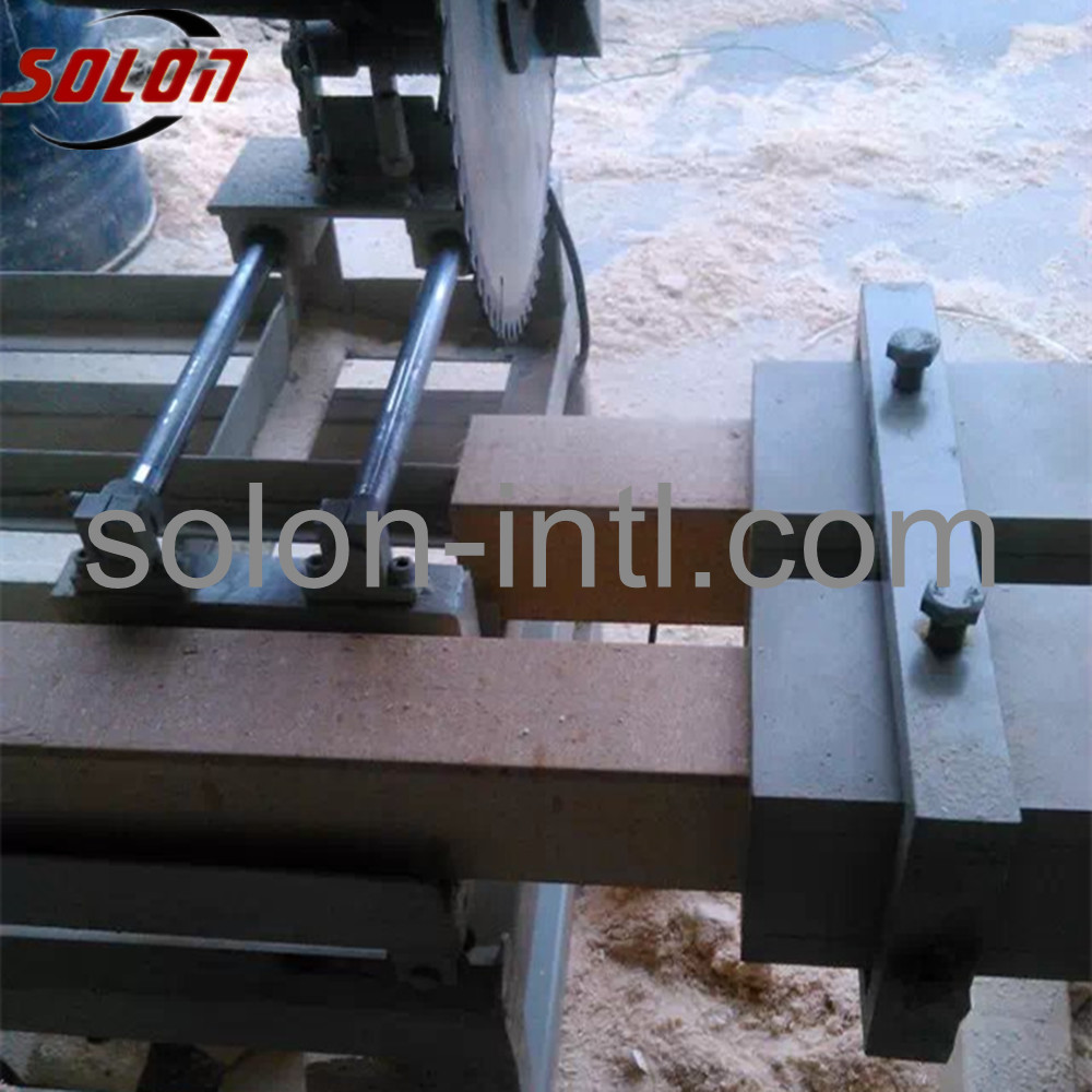 Auto block cutter pallet leg block cutting machine