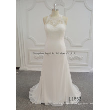 Real Pictures of Backless Chiffon Wedding Dresses