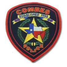 Kundenspezifischer gesponnener Stickerei-Polizei-Flecken für Emblem