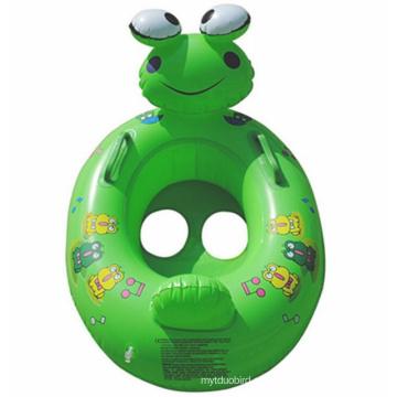 Pequeño animal lindo de la rana Anillo inflable del flotador de los niños inflables