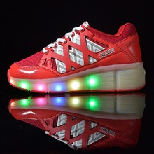 Kinder LED Schuhe Roller LED Schuhe rosa blau