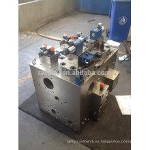 Colector de válvula de control hidráulico para prensa hidráulica de 600 toneladas