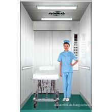 Haarloser Edelstahl-Bett-Aufzug mit PVC-Boden