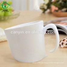 2015 Nueva forma de precio razonable Plain Blanco taza de cerámica