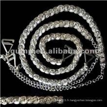 Courroies de soutien en métal et diamant (GBRD0168)
