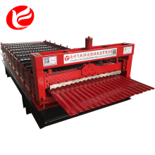 Corrugated panel roof sheet roll forming machine