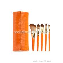 Portable 5pcs Makeup Brush Set Oem For Holidays Gift