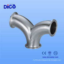 Stainless Steel 316 Y Type Tee with Clamp End