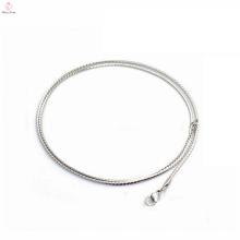 """Dernière mode 1.4mm largeur 20 """"longueur en acier inoxydable S forme féminine collier, collier en gros"""