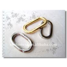 Anel oval de metal