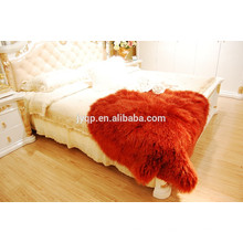 Wholesale Soft Mongolian Sheepskin Rug Many Colors