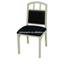 Backrest Stainless Steel Chair, Metal Dining Chair for Hotel
