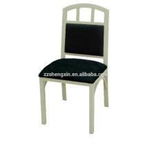 Cadeira de aço inoxidável de encosto, cadeira de jantar de metal para o hotel