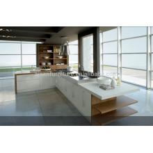 SKB2244 Armação de cozinha Laquer de alto brilho Cor branca Estilo moderno Armários de cozinha modulares Design Armário de cozinha italiano