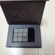 Pierre à whisky certifiée FDA 9 granite de lave
